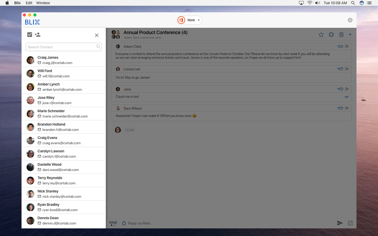 blix chat contacts on mac